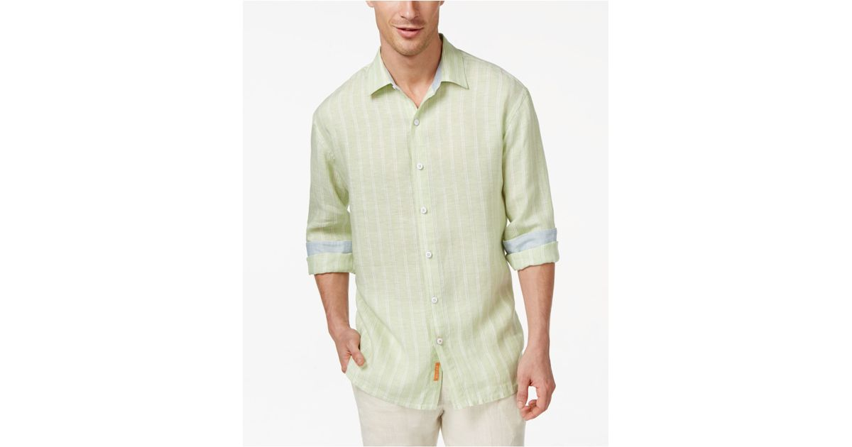 Tommy bahama brisbane beach long sleeve linen shirt in for Tommy bahama long sleeve dress shirts