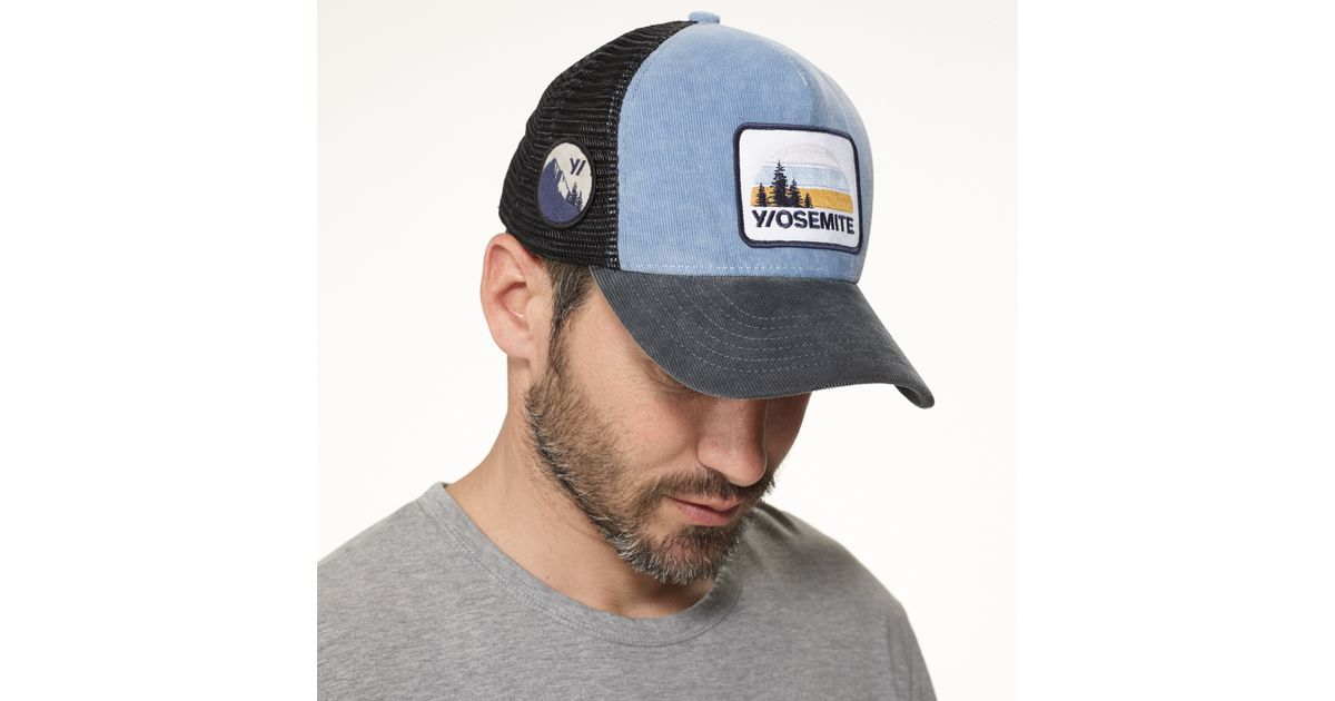 Lyst - James Perse Yosemite Trucker Hat in Blue for Men cd34a3ad91f