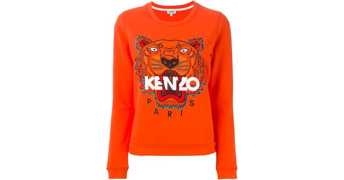 1882558d6 KENZO 'tiger' Sweatshirt in Orange - Lyst