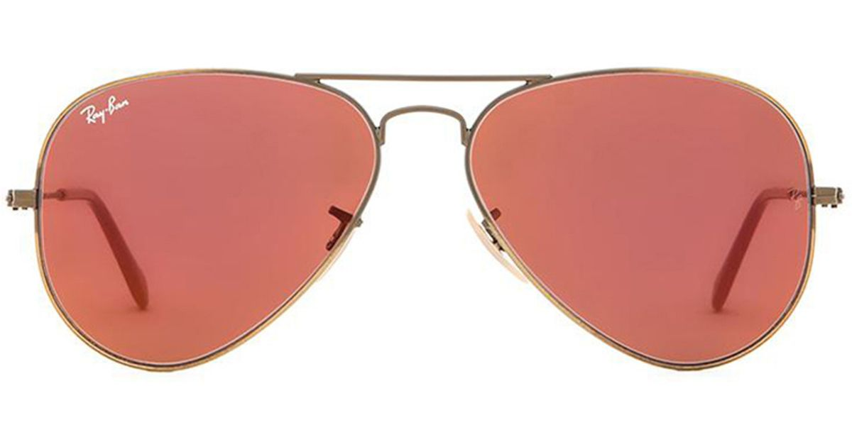 51ef424df2 ... where to buy lyst ray ban aviator flash lenses in metallic f843a a27a8