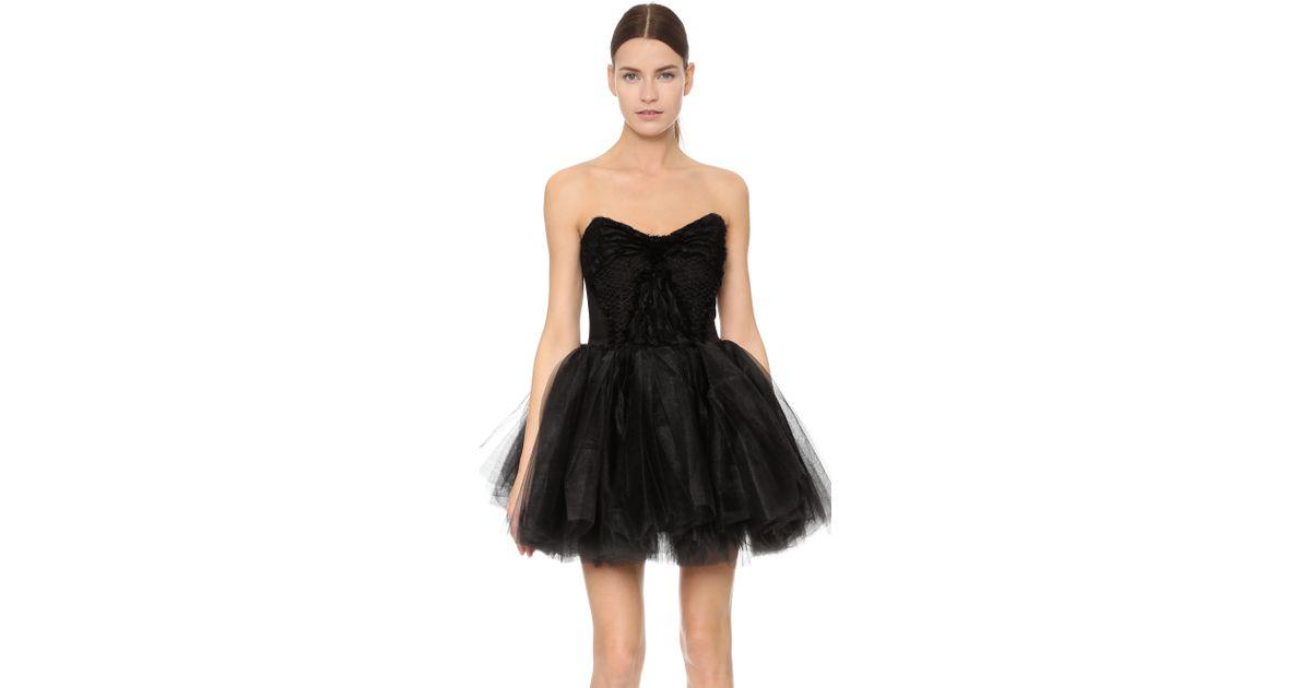22de9012756d Loyd/Ford Tulle Mini Dress in Black - Lyst