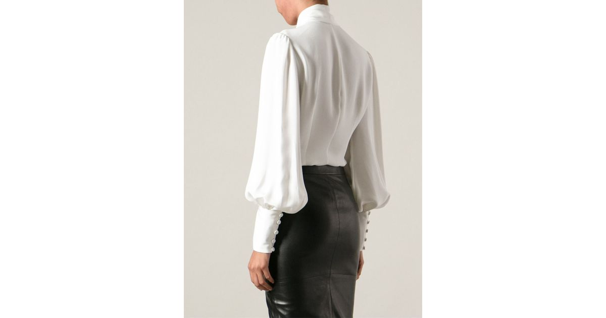 Asymmetric blouse - White Alexander McQueen Free Shipping New Shop Offer For Sale For Nice Online IoDTV
