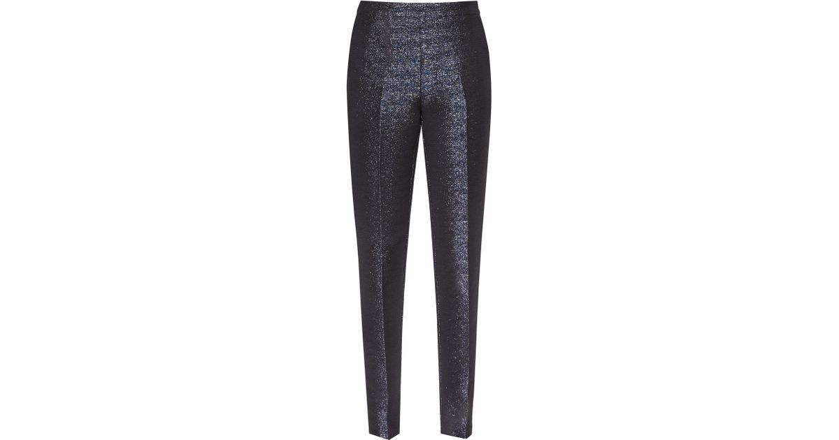 9a02bb8312d8 Reiss Kalli Metallic Trousers in Blue - Lyst