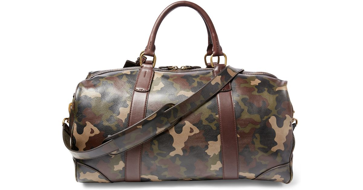 ... germany lyst polo ralph lauren camouflage leather duffel bag in gray  for men b63a4 939be c23b7fda8baba