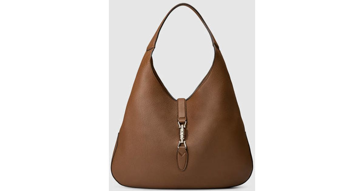 90d7f7b149b8bc Gucci Jackie Soft Leather Hobo in Brown - Lyst