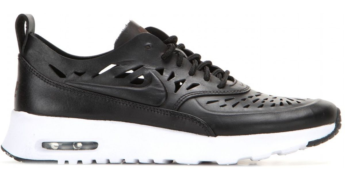 nike air max thea joli laser cut leather sneakers in black. Black Bedroom Furniture Sets. Home Design Ideas