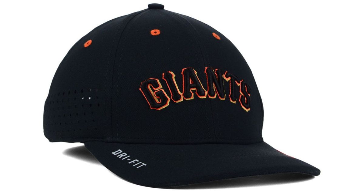 9c043ba6 ... hat orange 53a60 30243 new zealand lyst nike san francisco giants vapor  swoosh flex cap in black for men 3839f ...