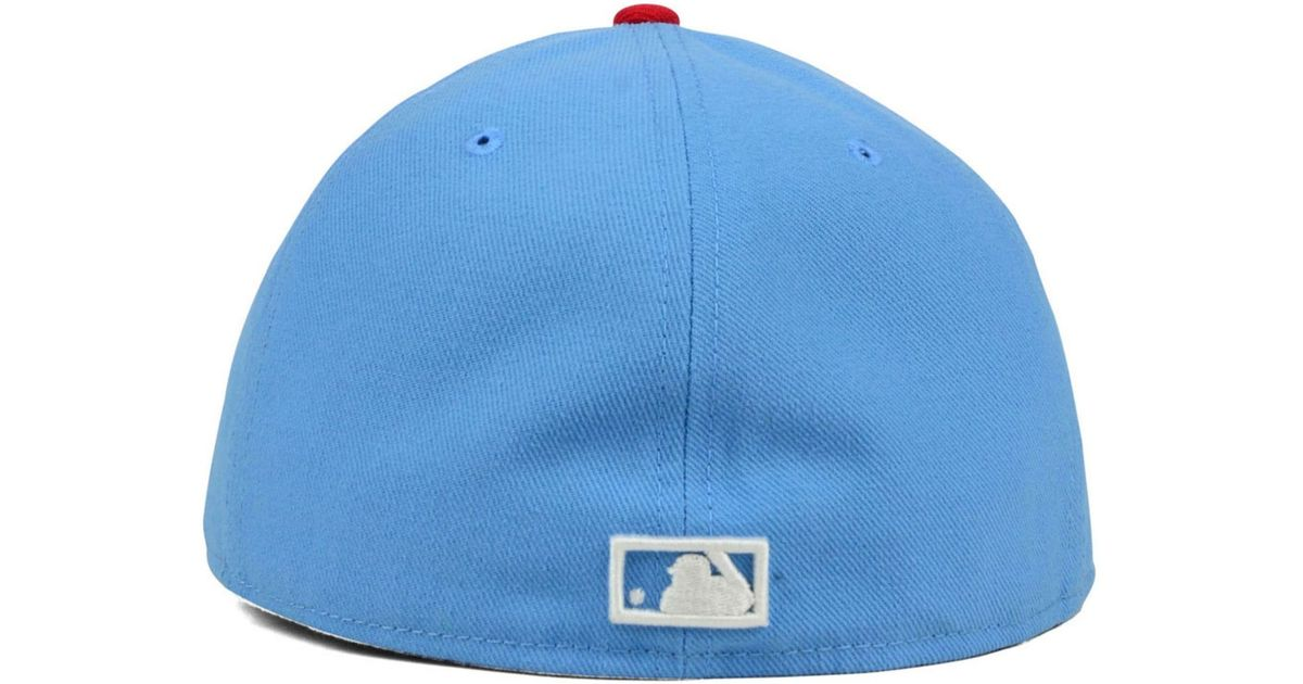 088a099eac5 Lyst - KTZ Atlanta Braves Cooperstown 2-tone 59fifty Cap in Blue for Men