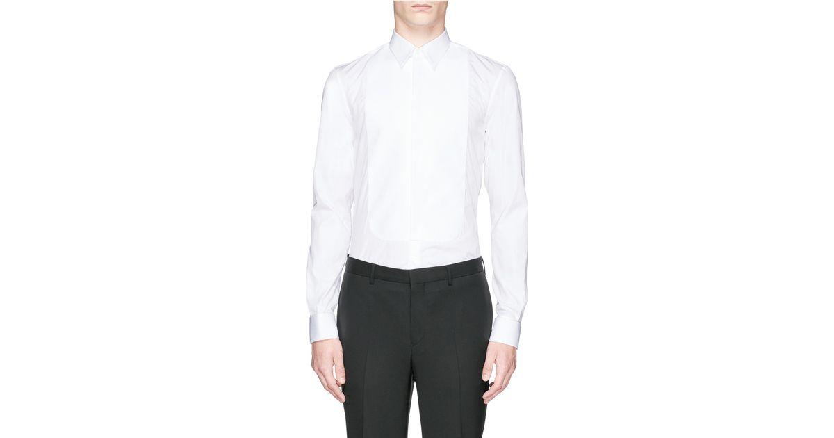 10cda99bd Givenchy Piqué Bib Poplin Tuxedo Shirt in White for Men - Lyst