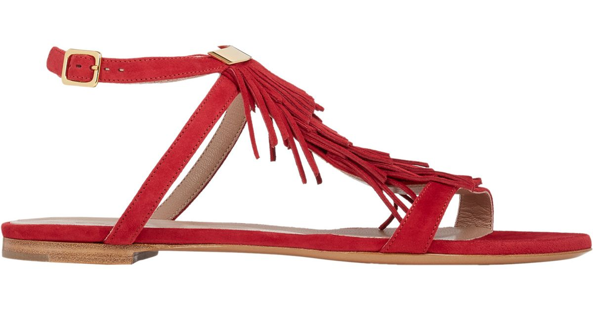 Chloé Fringed leather sandals Free Shipping Geniue Stockist Latest Collections Sale Online AMXu5