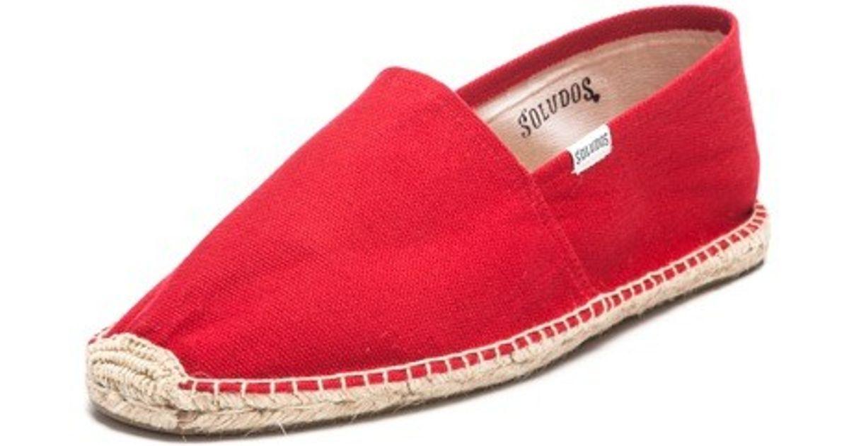 5a57b464bbd8 Lyst - Soludos Dali Barca Stripe Classic Stripe Original in Red for Men