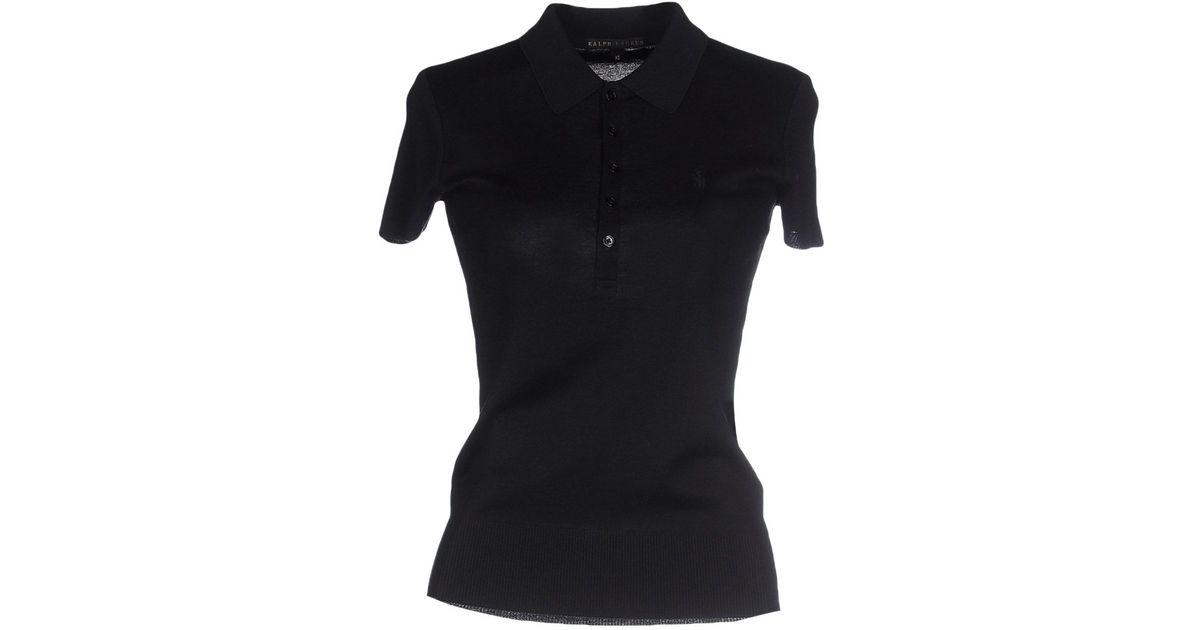 Ralph lauren black label polo shirt in black lyst for Ralph lauren black label polo shirt