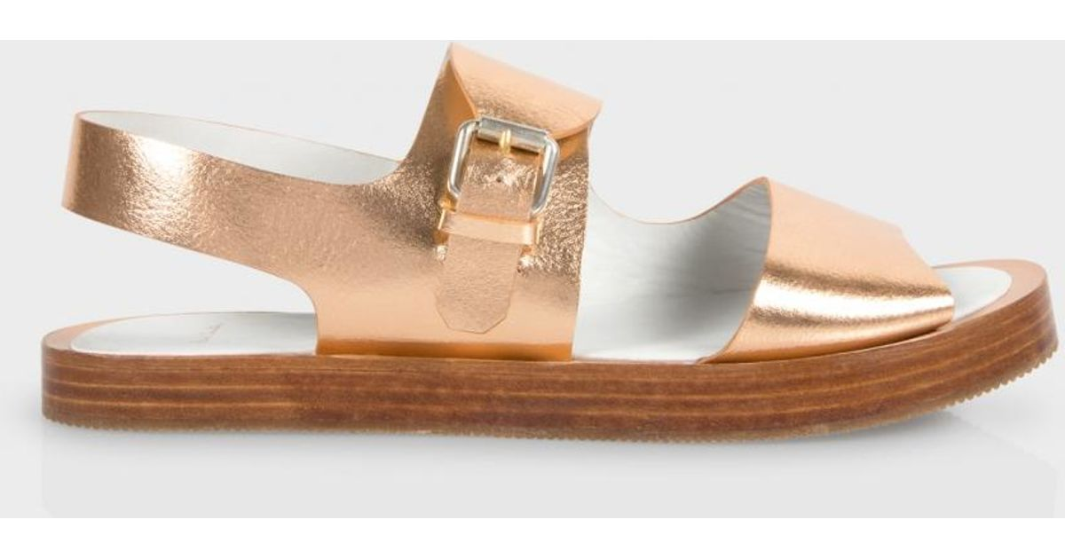 f8560fbb18e768 Paul Smith - Metallic Ilse Leather Sandals - Lyst