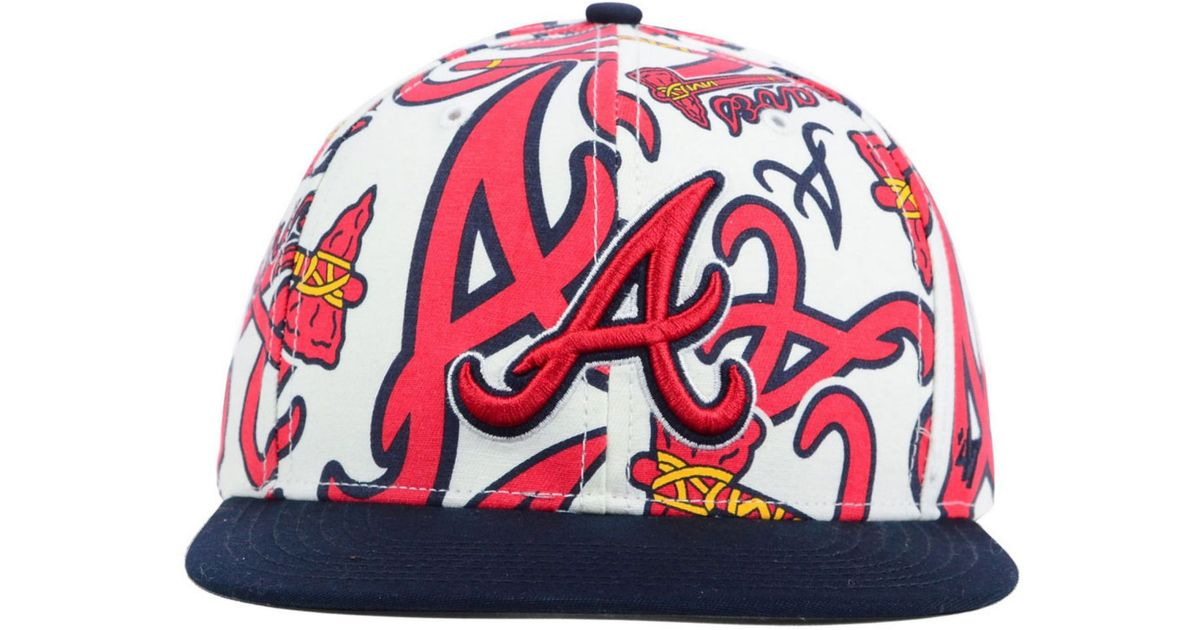 Lyst - 47 Brand Atlanta Braves Snapback Cap in White for Men a13a2558cab