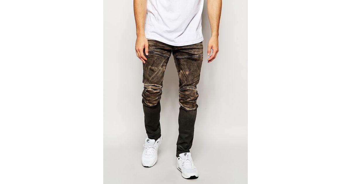 05b83e82f2d G-Star RAW Jeans 5620 Elwood 3d Zip Knee Super Slim Fit Slander Black Aged  Cob 48 in Brown for Men - Lyst