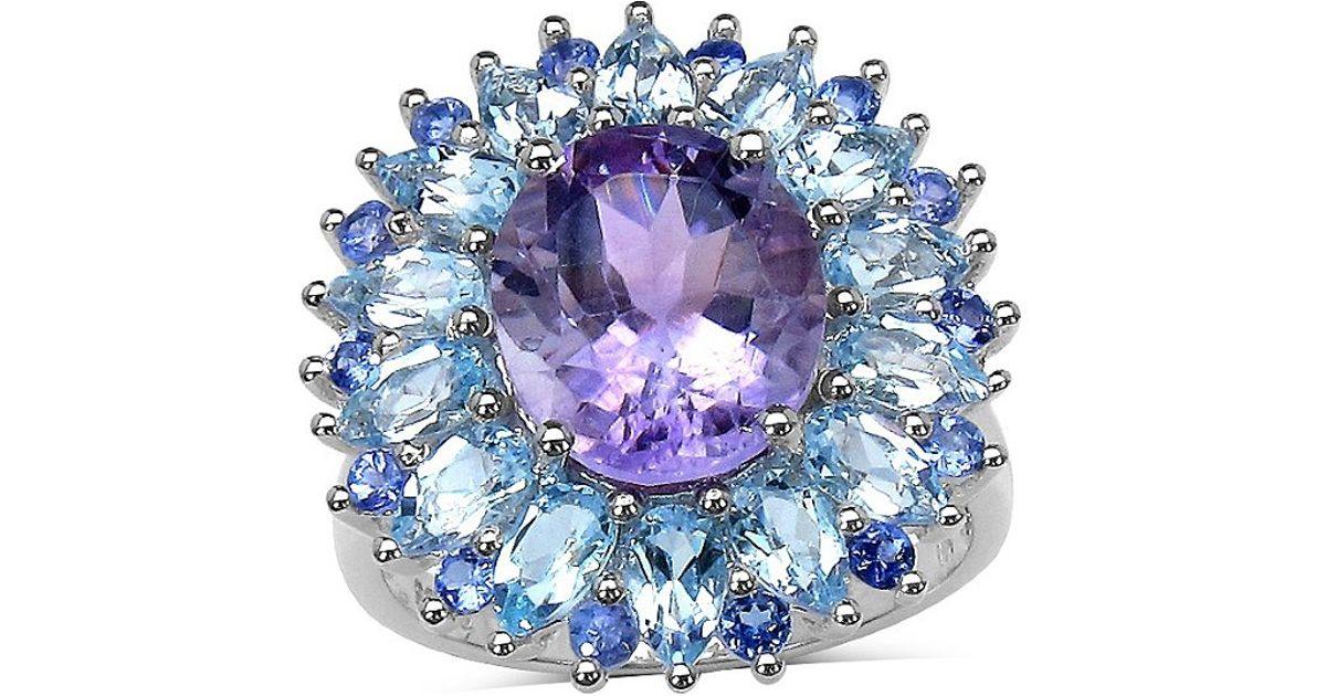 Palmbeach Jewelry 8 17 Amethyst Blue Topaz And Tanzanite
