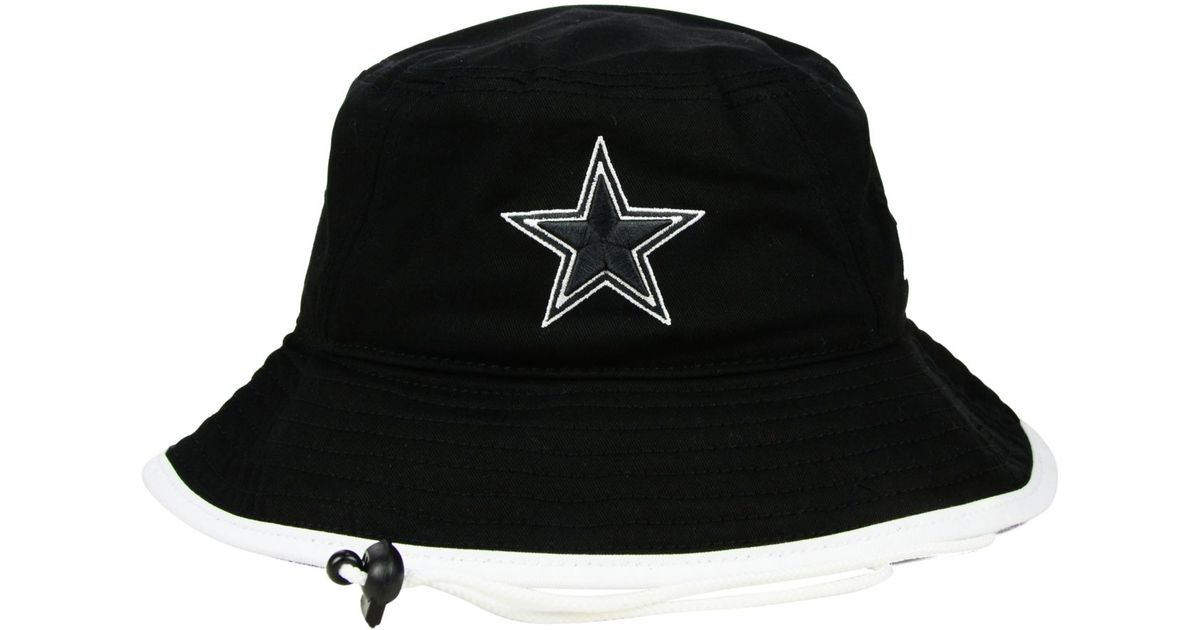 6de53d9a719 Lyst - KTZ Dallas Cowboys Black White Bucket Hat in Black for Men