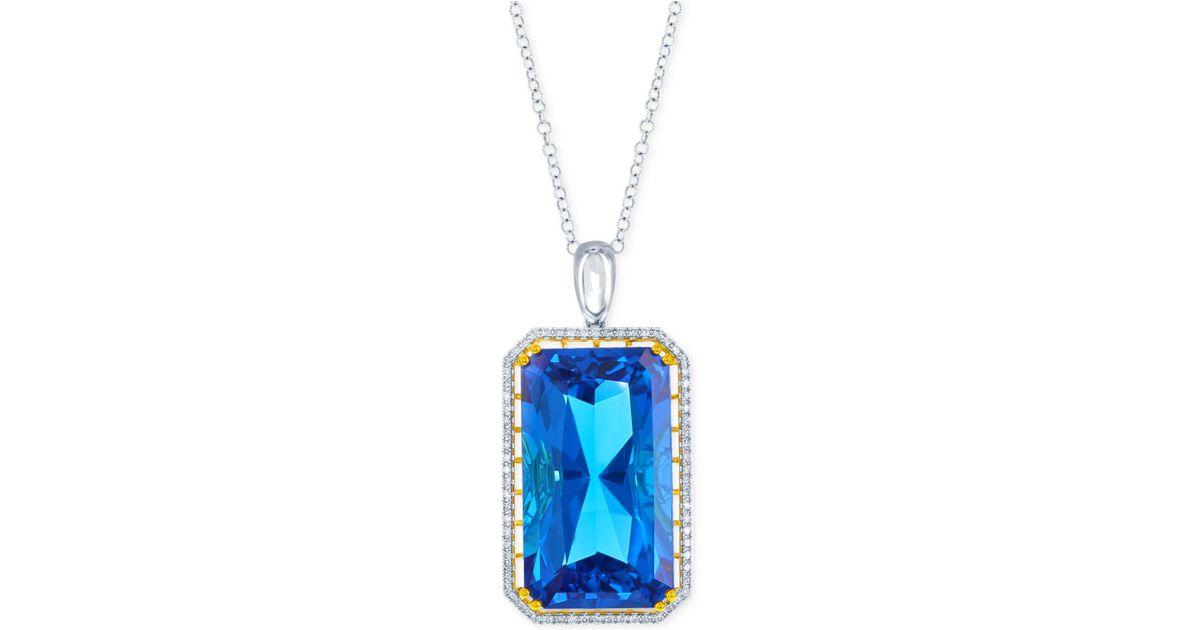 Lali Jewels Swiss Blue Topaz 104 3 4 Ct T W And