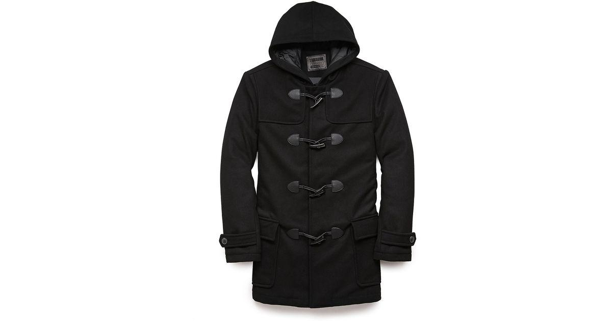 3657b30f289 Super Lyst - Forever 21 Hooded Wool-blend Duffel Coat in Black for Men XM42