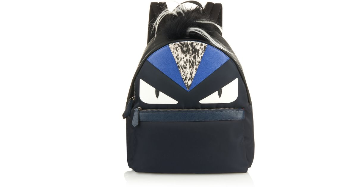 354e5b9186be Lyst - Fendi Bag Bugs Nylon Backpack in Black for Men