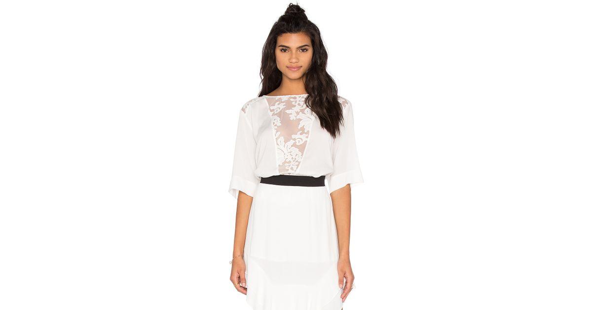 9b3f31b8f2d Custommade• Pauline Lace Top in White - Lyst