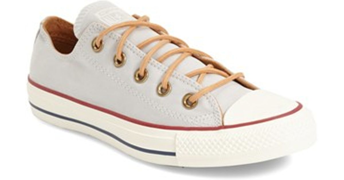 7f34a5cd8f6d2a Lyst - Converse Chuck Taylor All Star  peached - Ox  Low Top Sneaker in  Gray for Men