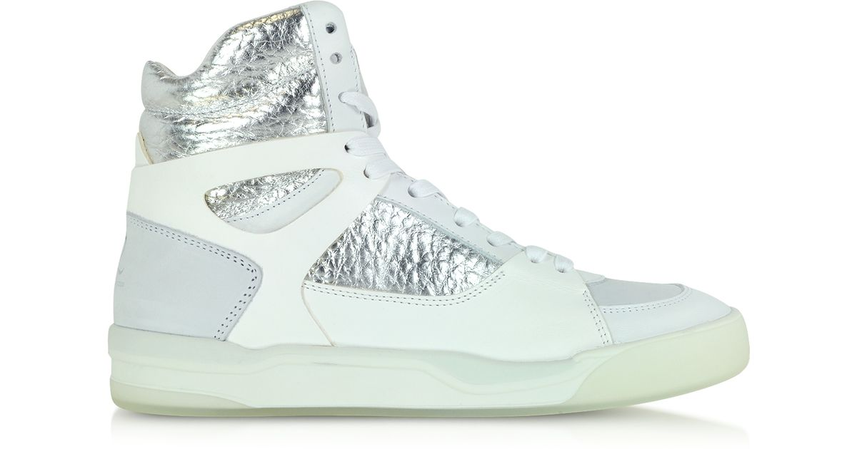 c5664a547fdb Lyst - Alexander McQueen X Puma Move Leather High-Top Sneakers in White