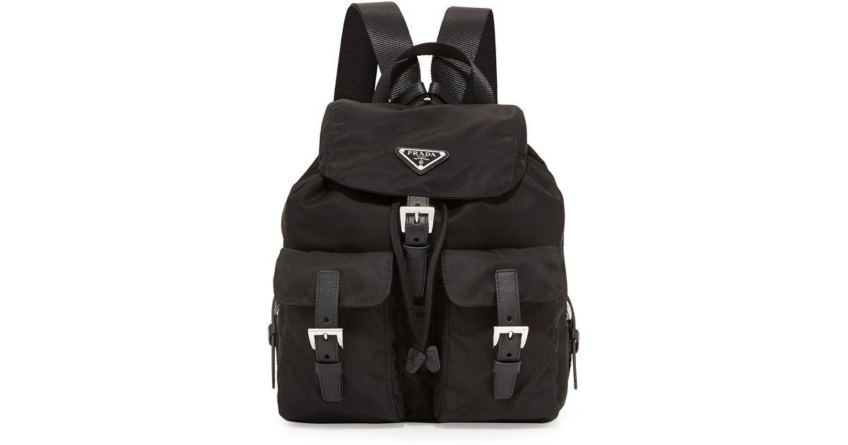 a16704ab2 coupon prada vela backpack 9c219 ac6b7; canada lyst prada vela small nylon  backpack in black for men 83992 8e0c0