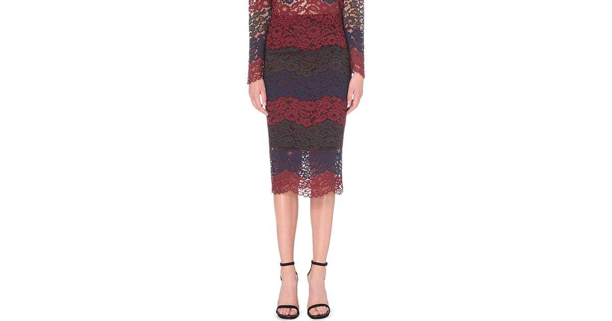 44bd86b1d Sandro Julee Floral Lace Skirt - Lyst