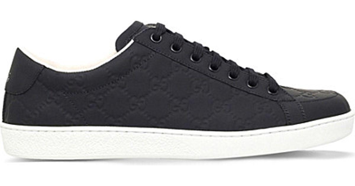 4c8f1b51407 Lyst - Gucci Brooklyn Ssima Leather Trainers in Black