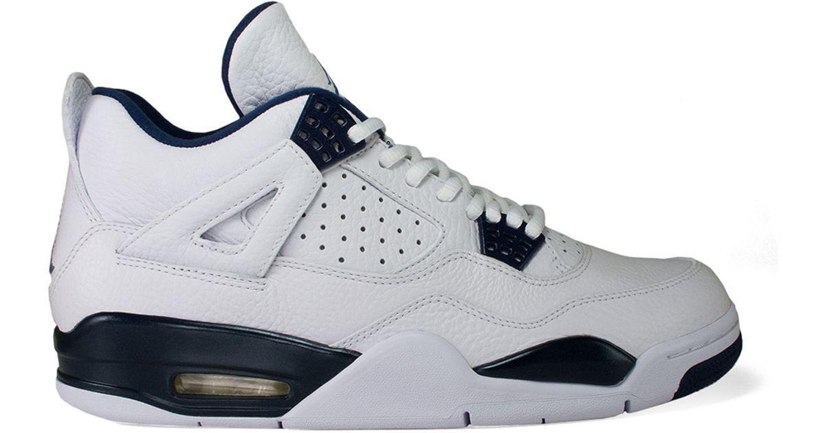 Lyst Nike Air Jordan 4 Columbia Leather Sneakers In White For Men