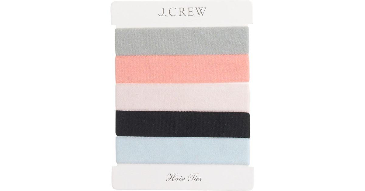 Lyst - J.Crew Elastic Hair Tie Pack 56b969be081