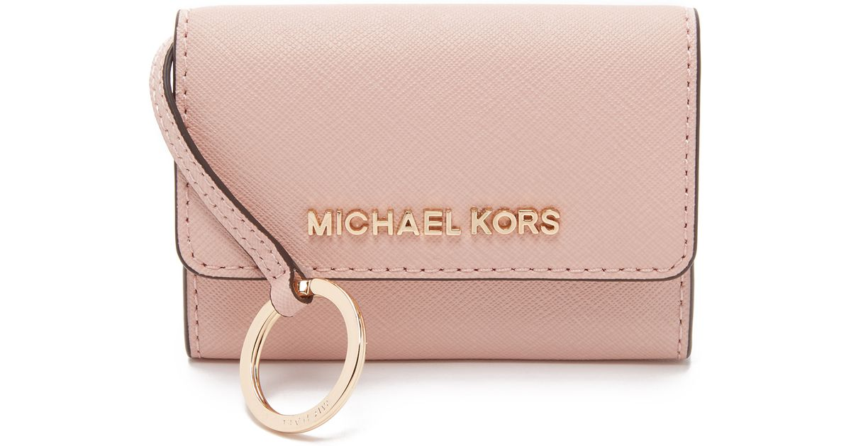 9570c60b03e9f6 MICHAEL Michael Kors Jet Set Coin Purse in Pink - Lyst