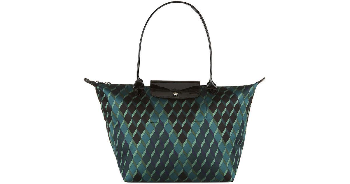 952d650c8f Longchamp Le Pliage Losange Large Shoulder Bag in Blue - Lyst