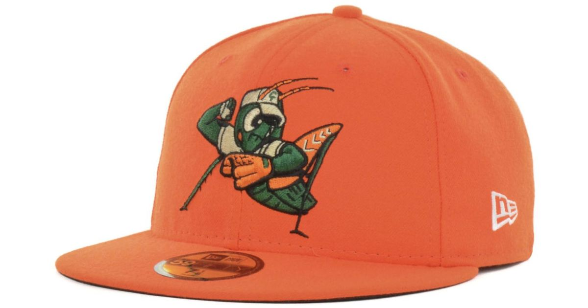 ... fitted cap59fifty new era hatswholesale onlinevarious design ireland  lyst ktz greensboro grasshoppers minor league baseball 59fifty cap in  orange for ... ec2ad167e