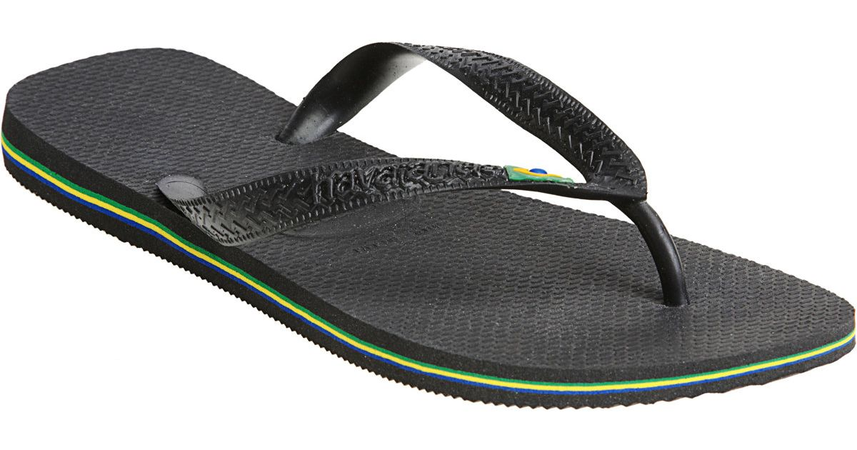 a91c4186e Lyst - Havaianas Brazil Flip-flops in Black for Men