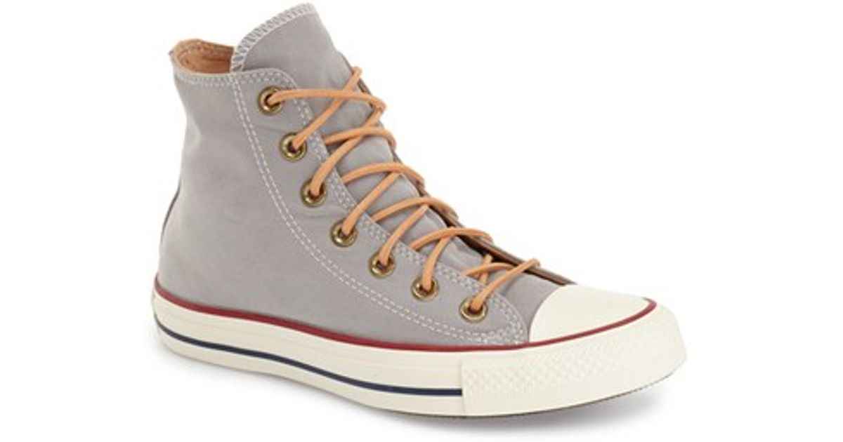 newest e013b f67ae Converse Chuck Taylor All Star  peached  High Top Sneaker in Gray - Lyst