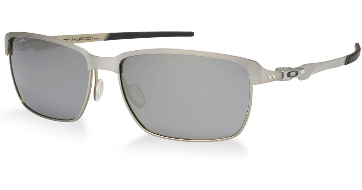 af5ac496d92 ... discount code for lyst oakley oo4083 tinfoil in metallic for men 0ab40  3231a discount code for oakley gascan style sunglasses ...