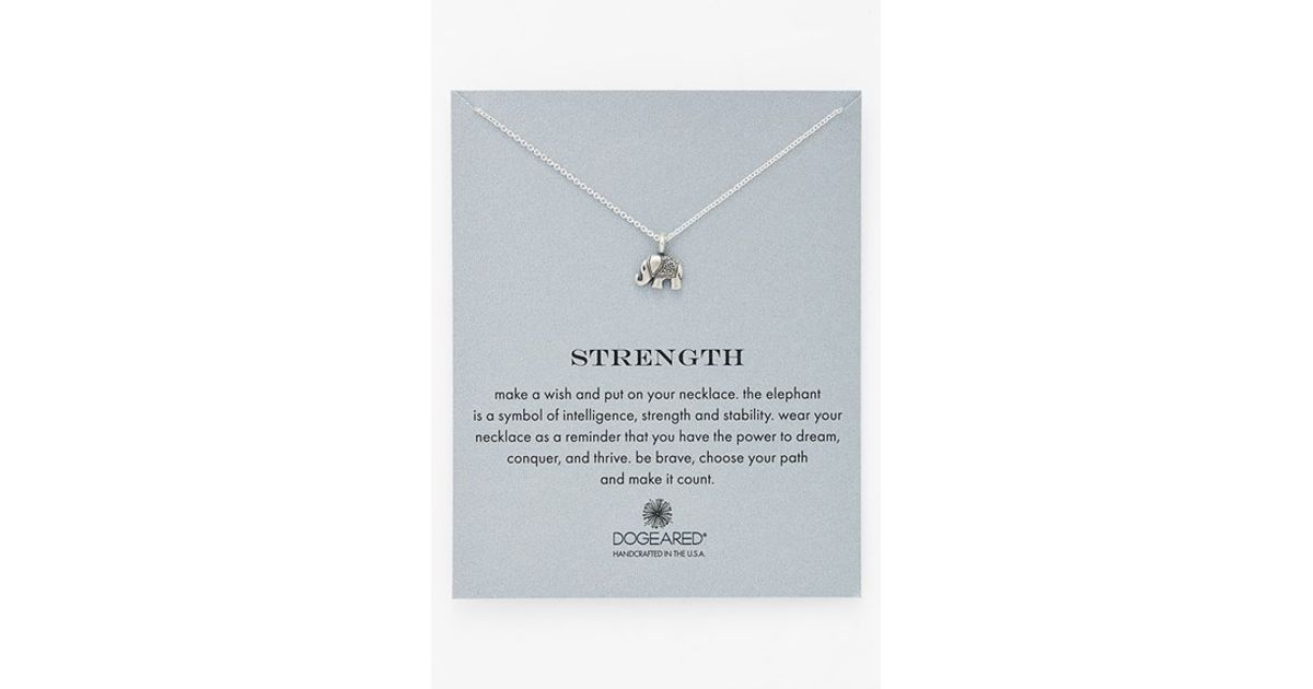 Lyst Dogeared Reminder Strength Pendant Necklace In Metallic
