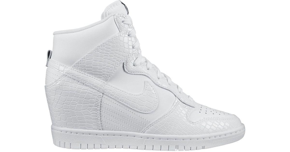 d138fd901e2c Lyst - Nike Dunk Sky Hi White Snake in White