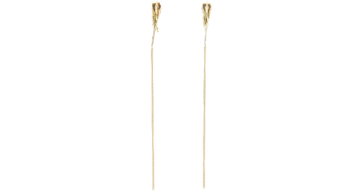 Wouters & Hendrix Crowss Claw long earring - Metallic fQxise