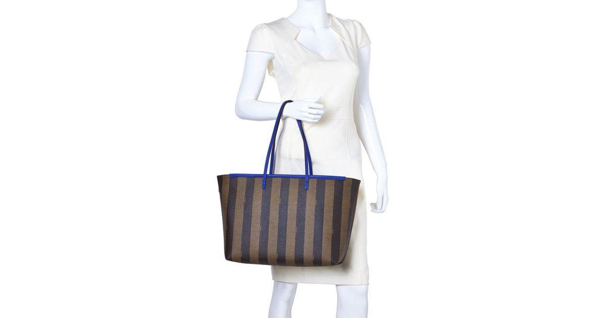 fa6b6312a6 Lyst - Fendi Pequin Roll Tote Bag in Blue