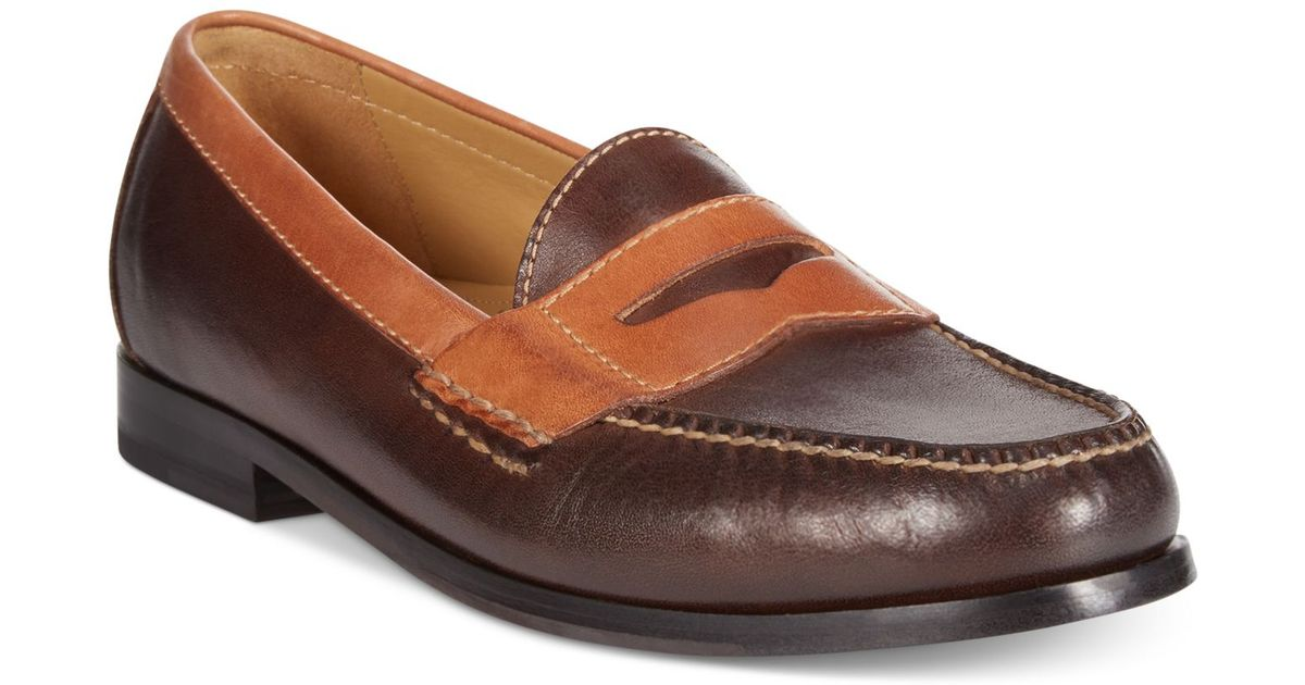 50d93a546e3 Lyst - Cole Haan Two-tone Pinch Penny Loafers in Brown for Men