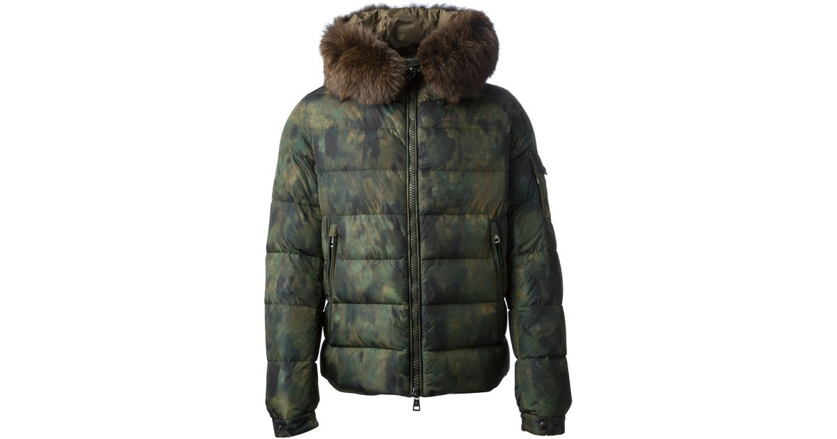 e5f3567a35e45 ... low price moncler byron camouflage padded jacket in green for men lyst  0bf58 a251a