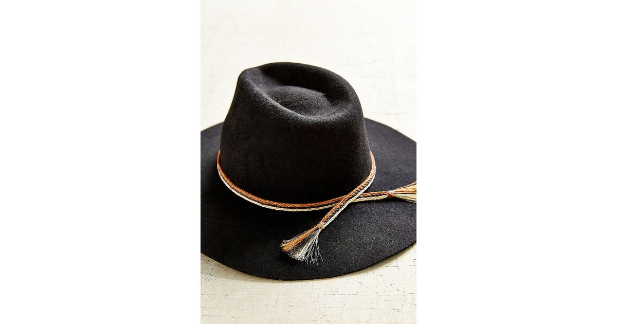 ff19a9070b8696 ... coupon code for lyst brixton leonard felt panama hat in black abf11  93caf