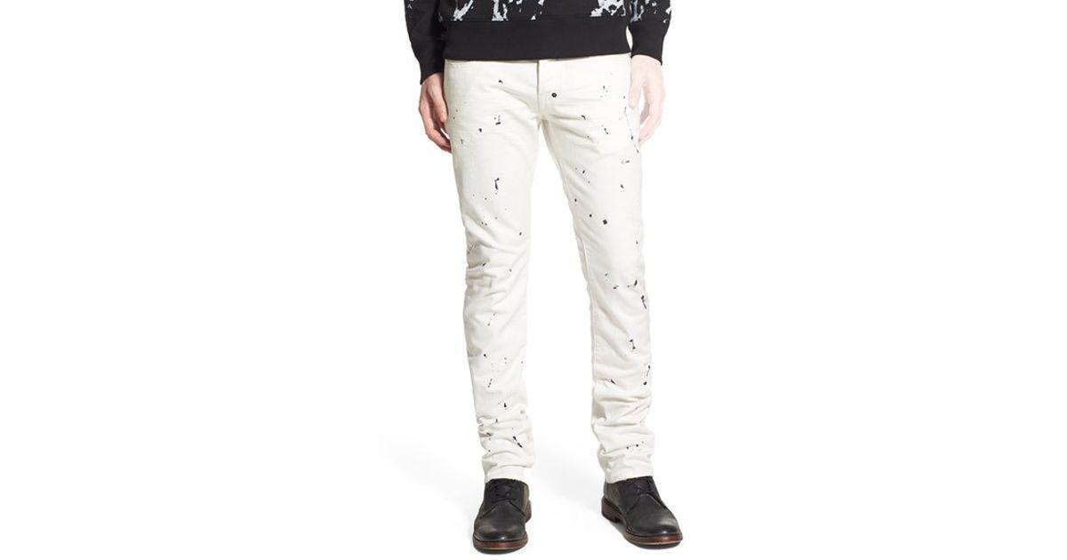 d5eec944c64 Lyst - Prps  demon  Slim Straight Leg Jeans in White for Men