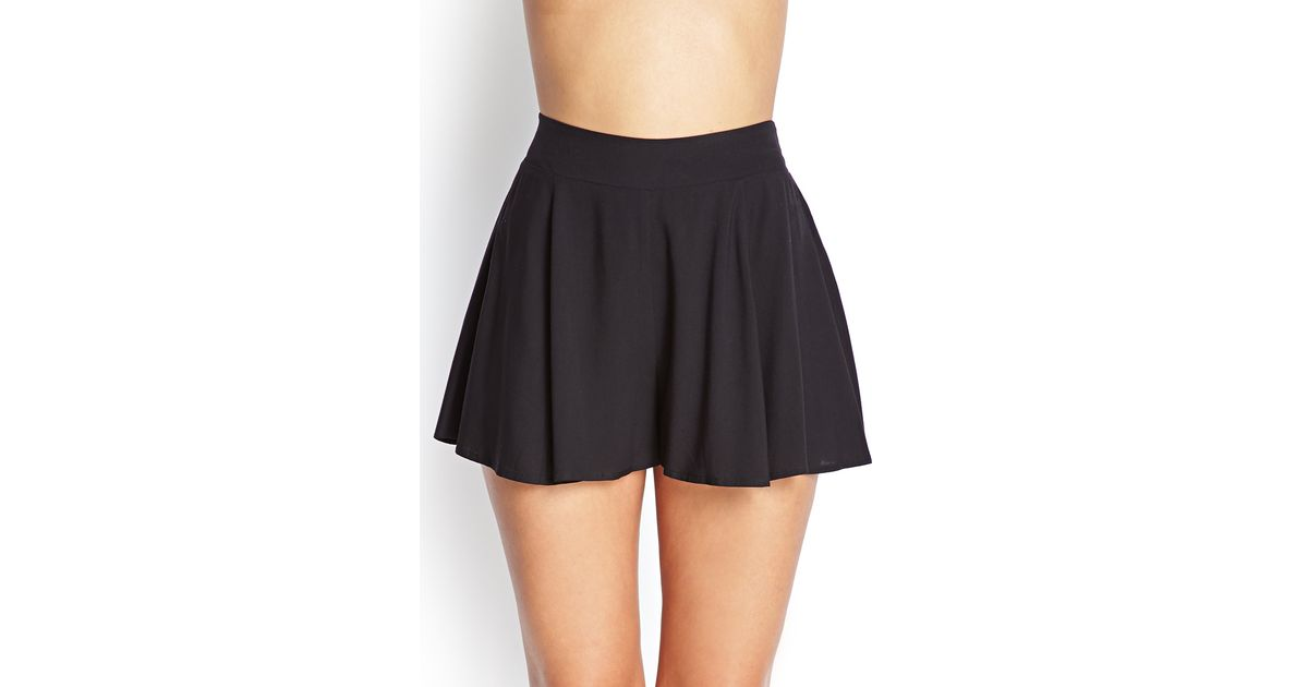 a7ee47611d Lyst - Forever 21 Flared Woven Shorts in Black