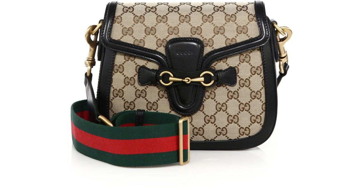 2268ce26a2aa18 Gucci Lady Web Medium GG Canvas Shoulder Bag in Natural - Lyst
