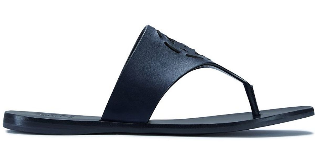 96d07ba9d Tory Burch Zoey Leather Sandals in Blue - Lyst