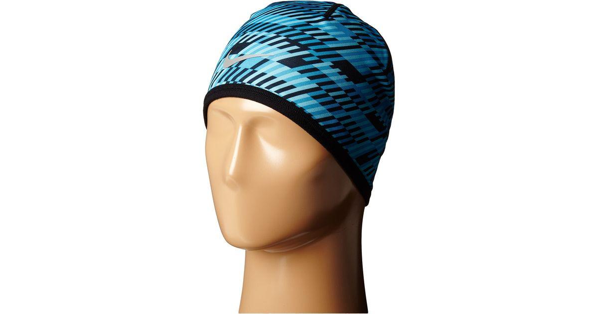 98e6d72f5ef66 Lyst - Nike Run Hazard Beanie in Blue for Men